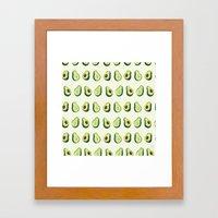 Avacado Pattern 2  Framed Art Print