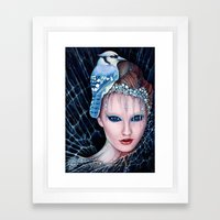 geai bleu Framed Art Print