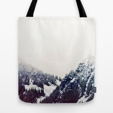 Vintage Snowy Mountain Tote Bag