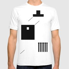 haus 2 SMALL Mens Fitted Tee White