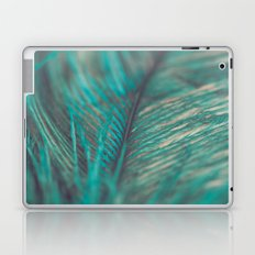 Turquoise Feather Close Up Laptop & iPad Skin