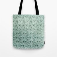 Art Nouveau Grunge Pattern Tote Bag