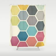 Shower Curtain featuring Honeycomb II by Cassia Beck