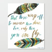 Dust Those Wings Off... Canvas Print