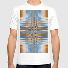 Abstract stained glass  SMALL Mens Fitted Tee White