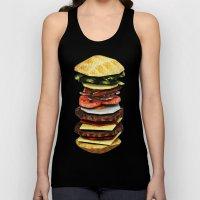 Graphic Burger Unisex Tank Top