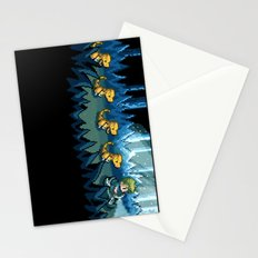 Pixel Jurassic World Stationery Cards
