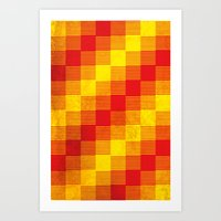 Rusty yellow and red motive Art Print