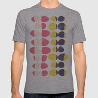 Painted Pebbles 3 Mens Fitted Tee Athletic Grey SMALL