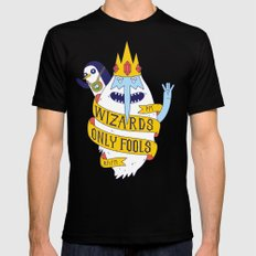 Wizards Only Fools MEDIUM Black Mens Fitted Tee