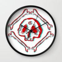 S K U L L & B O N E S Wall Clock