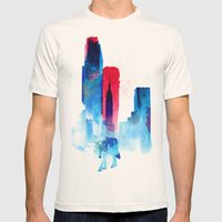 The wolf of the City Mens Fitted Tee Natural SMALL