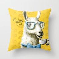 The Fancy Llama Throw Pillow