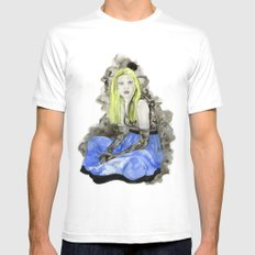 Blue Dress SMALL White Mens Fitted Tee