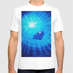 Blue Diamond Mens Fitted Tee SMALL White