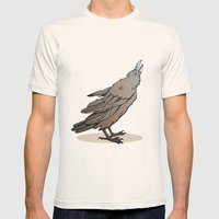 Crowing Crow Mens Fitted Tee Natural SMALL