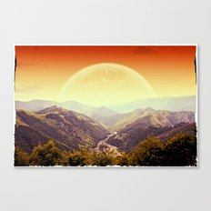 Highland Sunset  Canvas Print