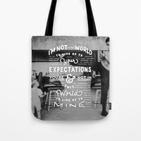 Bruce Says: Expectations Tote Bag