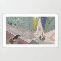 to the town Art Print