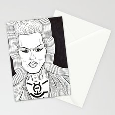 grace jones - chest paint Stationery Cards