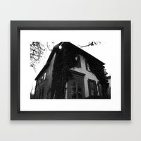 Just a house. Framed Art Print