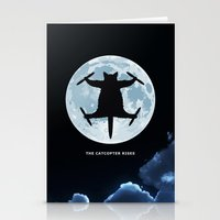 Catcopter Rises Stationery Cards