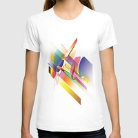 Cello Uno Womens Fitted Tee White SMALL