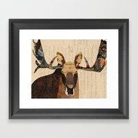 Moose Collage Framed Art Print