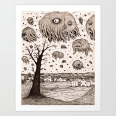 They came from the sky Art Print