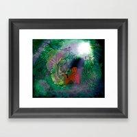 Bayou Mermaid Framed Art Print