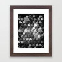 as the curtain falls (monochrome series) Framed Art Print