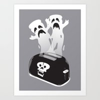 Ghost Toast Art Print