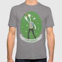 Stork Broker! Mens Fitted Tee Tri-Grey SMALL