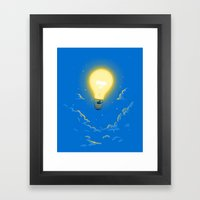 Let the light lead the way Framed Art Print
