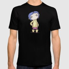 Coraline  Black Mens Fitted Tee SMALL