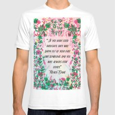 Roald Dahl SMALL White Mens Fitted Tee