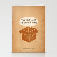 you can't make me think in here Stationery Cards
