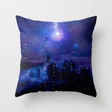 City of lights Throw Pillow
