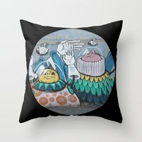 Astronaut Graffiti Throw Pillow
