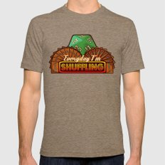 Everyday I'm Shuffling  |  Magic The Gathering Mens Fitted Tee Tri-Coffee SMALL