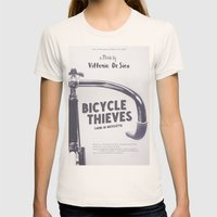 Bicycle Thieves - Movie Poster for De Sica's masterpiece. Neorealism film, fine art print. Womens Fitted Tee Natural SMALL
