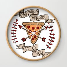 Everything Reminds Me of You Wall Clock