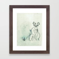 The Husband Eater (sketch) Framed Art Print