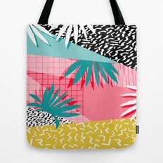 Bingo - throwback retro memphis neon tropical socal desert festival trendy hipster pattern pop art  Tote Bag