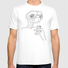 Selfie.t. SMALL Mens Fitted Tee White