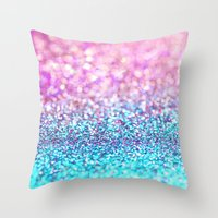 Pastel Sparkle- Photogra… Throw Pillow