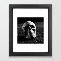 Nocturnal skull Framed Art Print