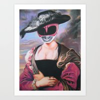 Portrait Of A Pink Range… Art Print