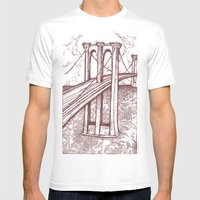 Bridge Mens Fitted Tee White SMALL