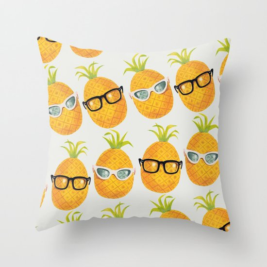 Pineapple Party! Throw Pillow